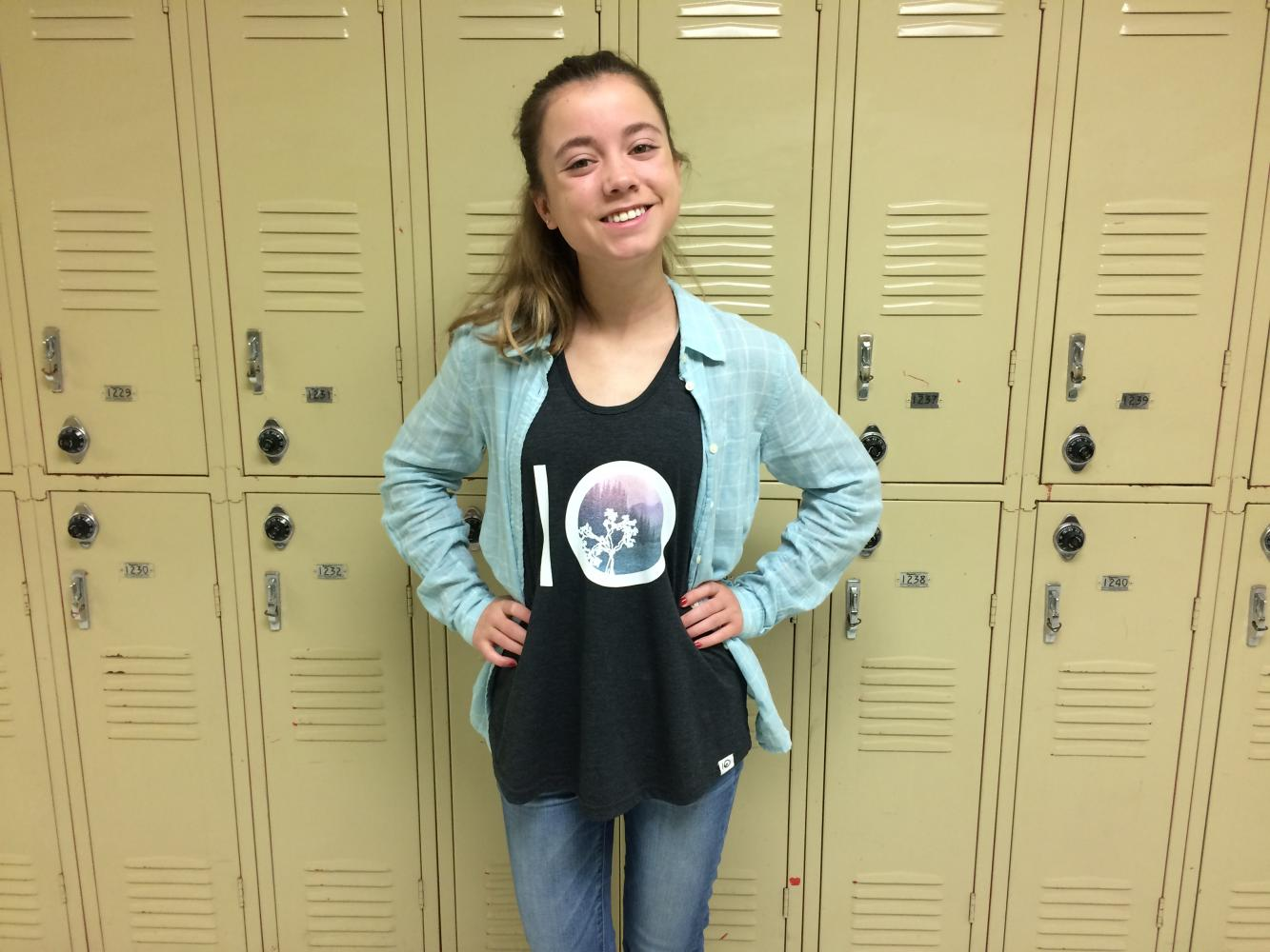 Keri Westerfield (10) wearing a shirt from Tentree.