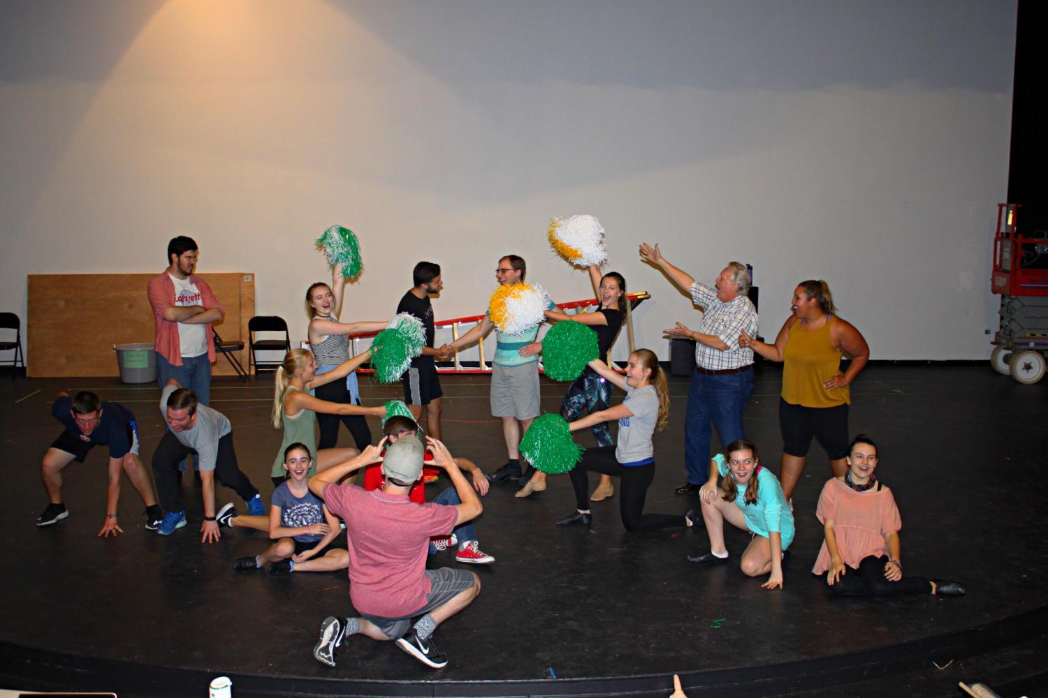 The cast in their final pose of one of the scenes (Image Source: Kennedy Johnson)