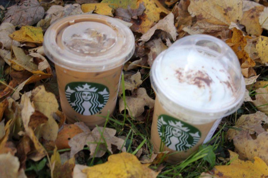 The+Pumpkin+Spice+Frappuccino+and+The+Iced+Caramel+Macchiato