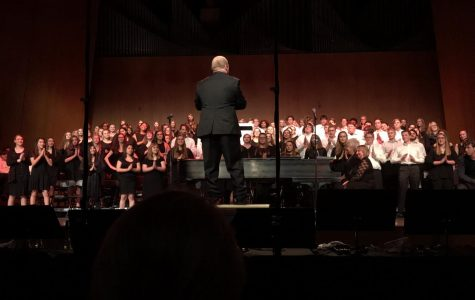Concert and Advanced Choirs performing
