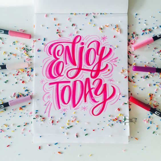 A colorful example of hand lettering