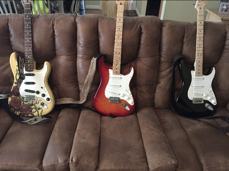 Three+Stratocasters+on+a+couch+