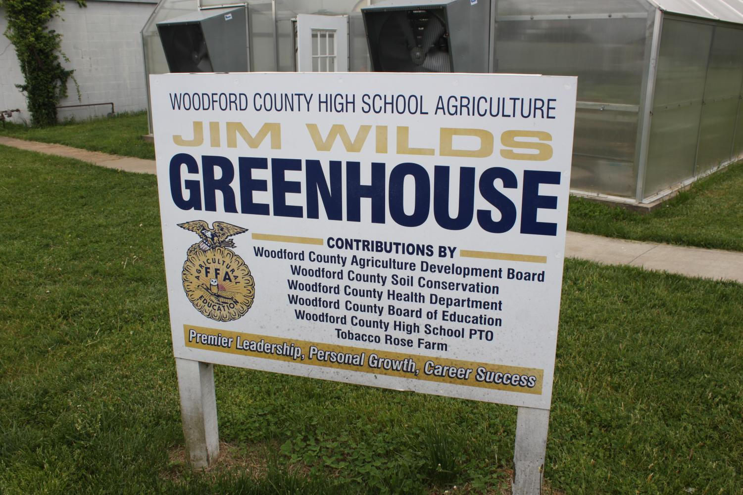 Entrance Sign for the WCHS Greenhouse
