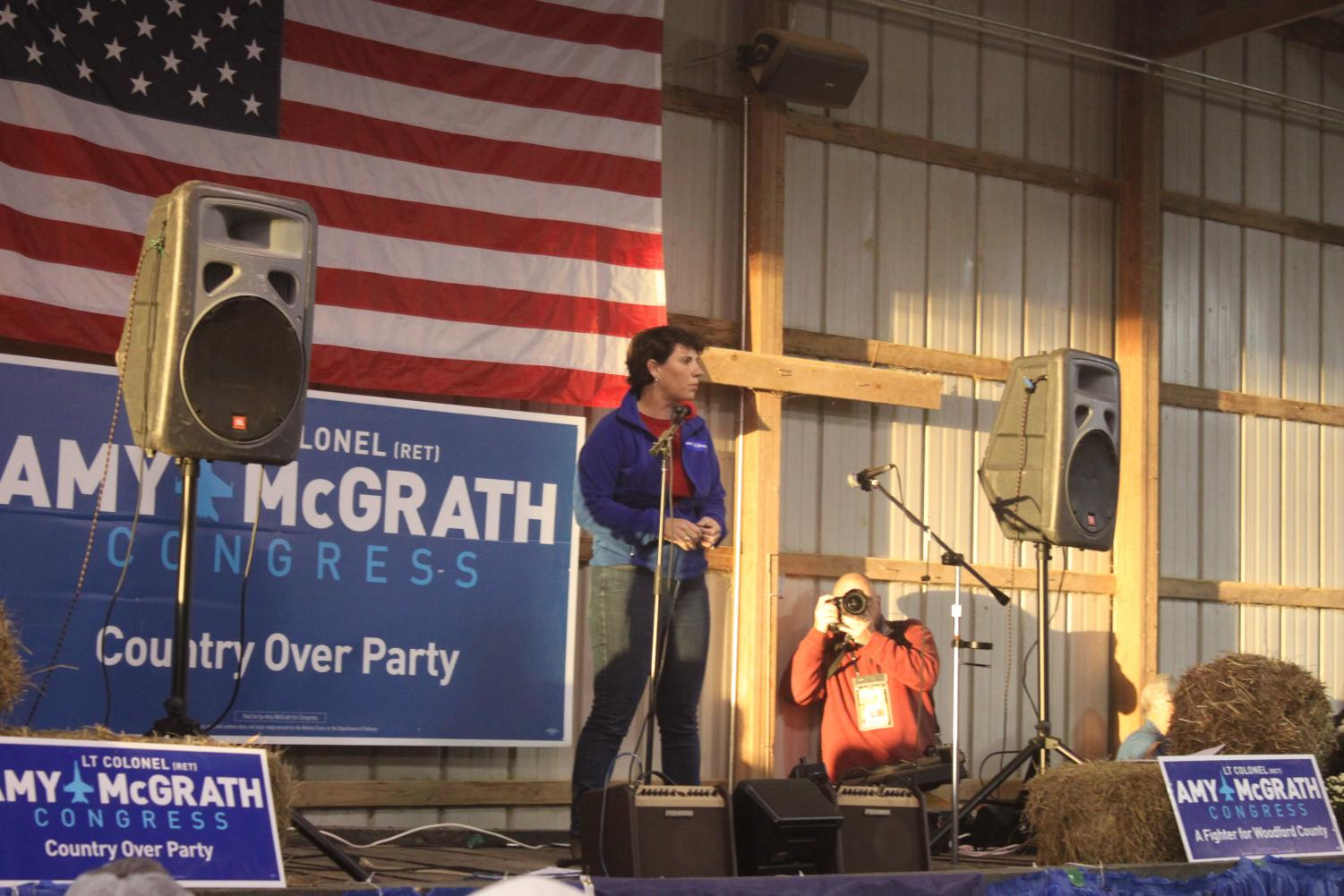 Amy McGrath takes the floor