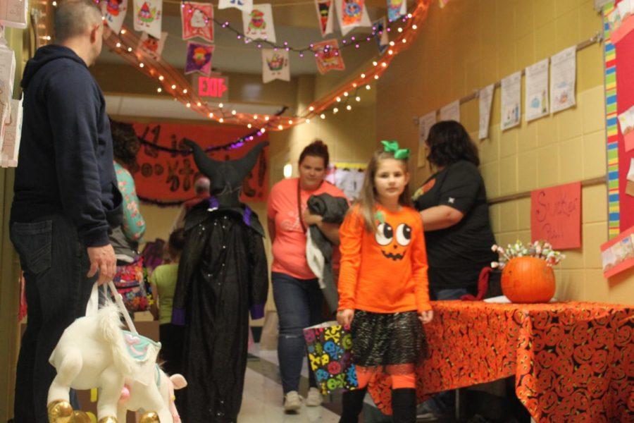 Families enjoying the spooky festivities