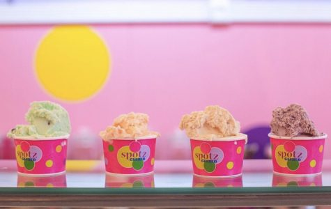 Four mouthwatering cups of Gelato from Spotz Gelato.