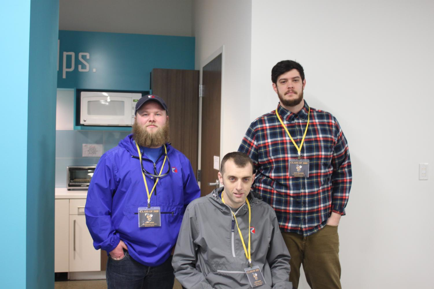 (Left) Cody Lewis, Ryan Couch, and Jaye Willams all work at Ruggles.