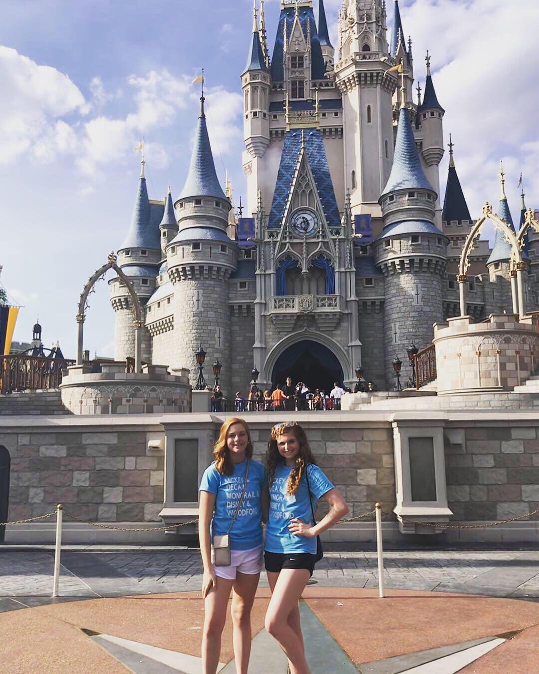 From left to right: Katherine Kelly and Katherine Crain pose for a quick picture in front of the castle. Photo by Emma Wesley