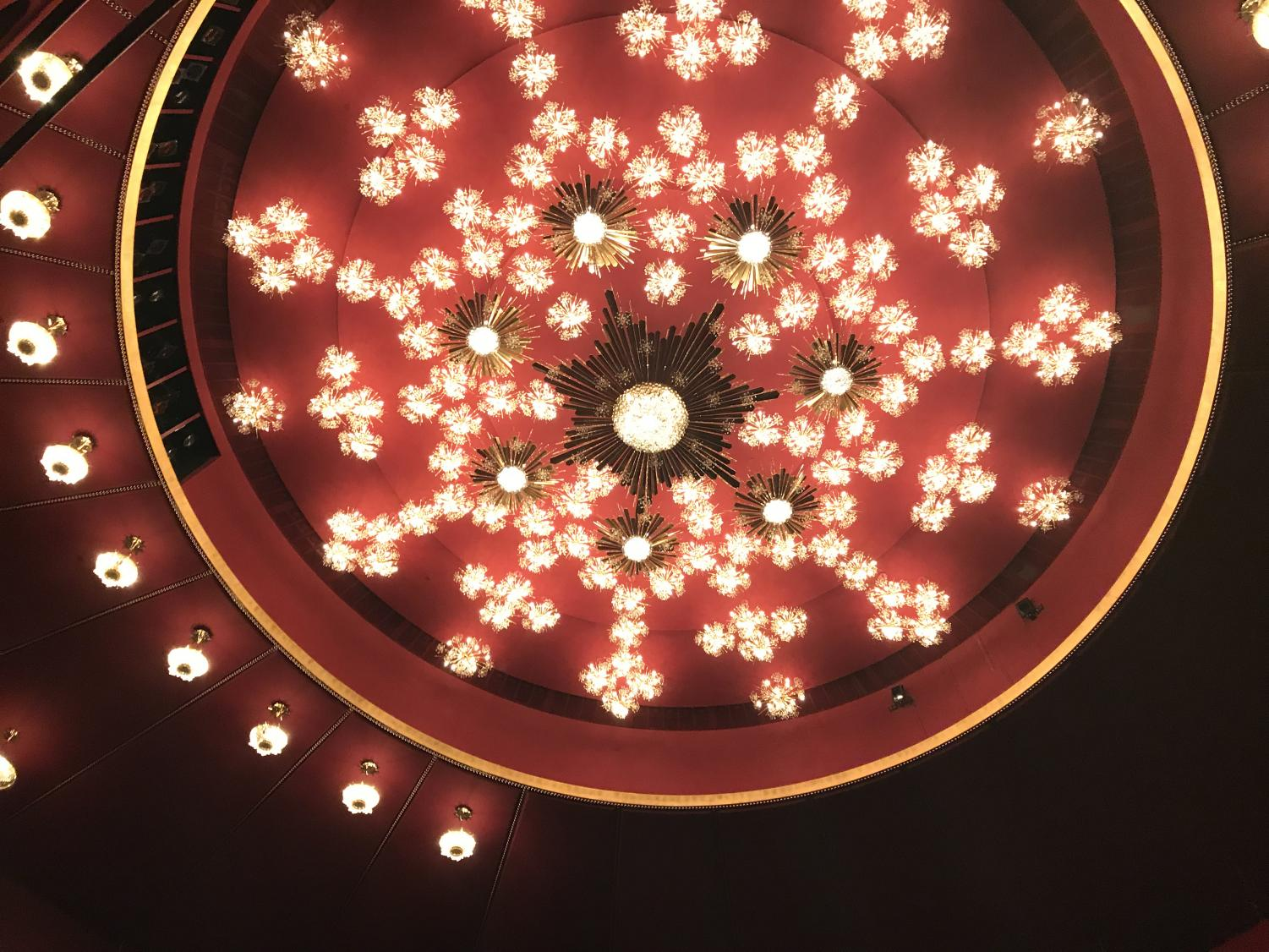 The+grand+crystal+chandelier+donated+by+Austria+located+in+the+Kennedy+Center+for+the+Performing+Arts.+