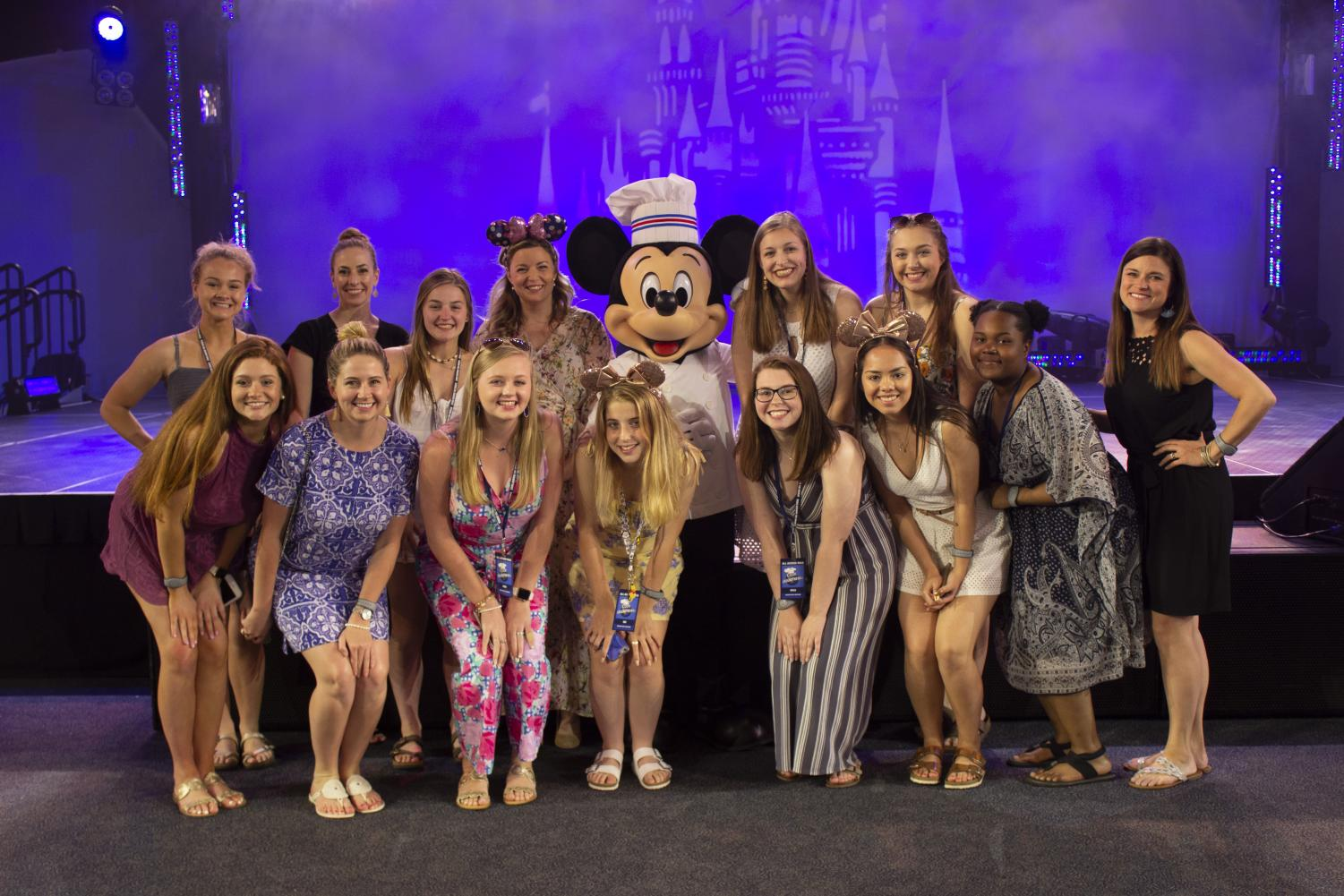 The Woodford Women pose for a picture with Chef Damaris Phillips and Chef Mickey.