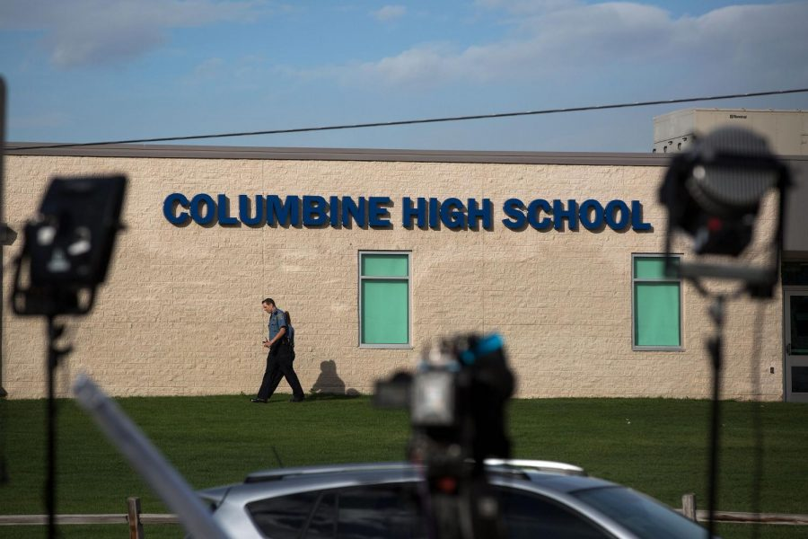 Columbine High School. Photo by CPR news.
