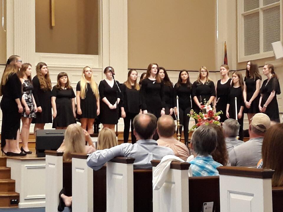 The Honeybees Acapella group singing last year at the choir concert.