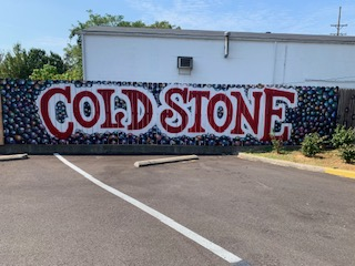 Coldstone's creative wall mural, located to the right of the shop.