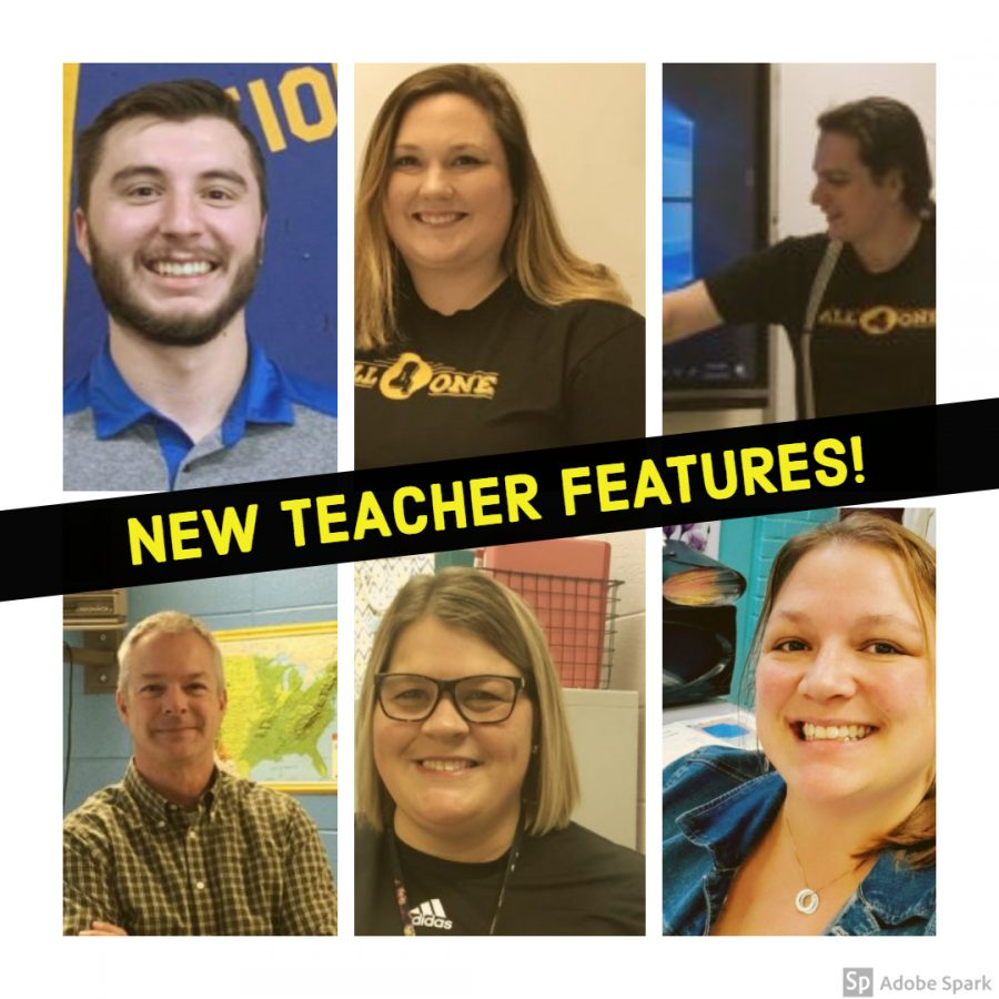 Mr. Bedard (top left), Ms. Maynard (top middle), Velonis (top right), Mr. Coburn (bottom left), Ms. Wheatley (bottom middle), Ms. Winchester (bottom right).