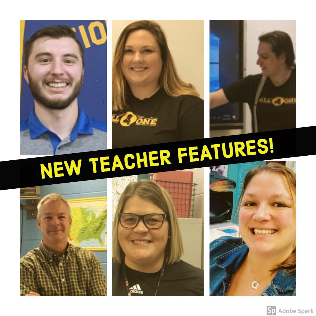 Mr. Bedard (top left), Ms. Maynard (top middle), Velonis (top right), Mr. Coburn (bottom left), Ms. Wheatley (bottom middle), Ms. Winchester (bottom right).
