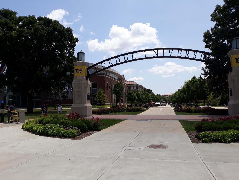 The entrance to Purdue University.