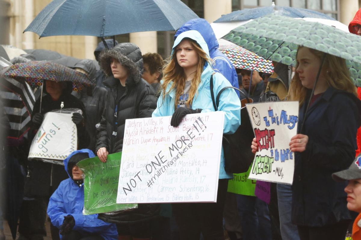 Students at the March for our Lives held in Lexington Kentucky in 2018. Photo by Rick Childress.