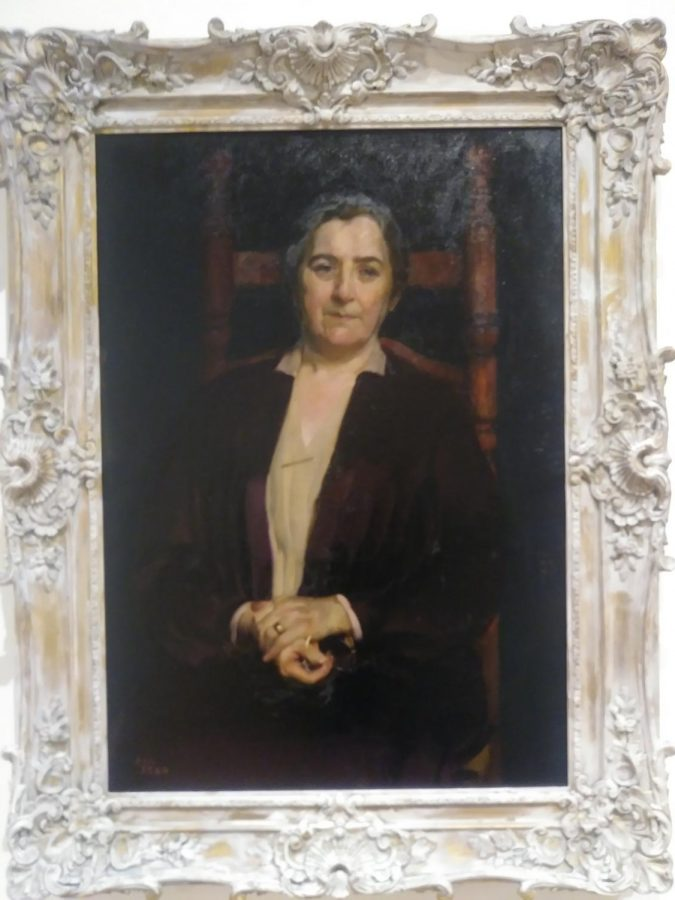 Portrait of Mother by William P. Welsh as part of the TLC, Part II: Conservation and the Collection Exhibition.