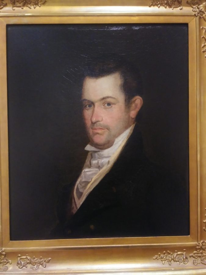 Portrait of Robert Crockett created by Samuel Woodson Prince as part of the TLC, Part II: Conservation and the Collection Exhibition.