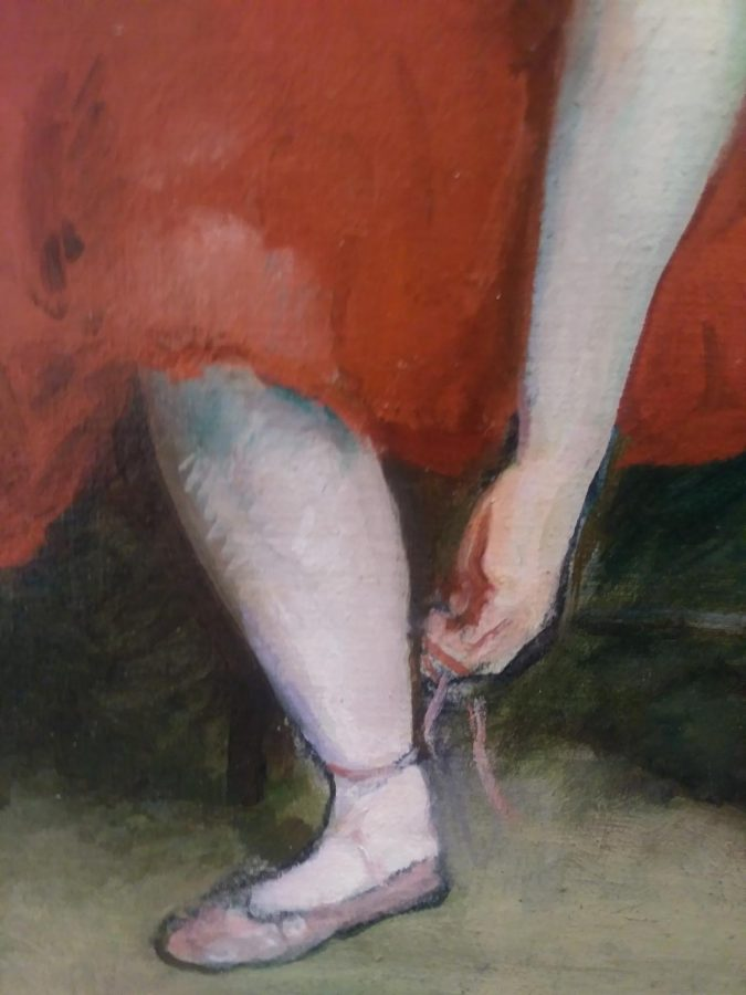 Ballet Girl in Red created by Kouis Kronberg as part of the TLC, Part II: Conservation and the Collection Exhibition.