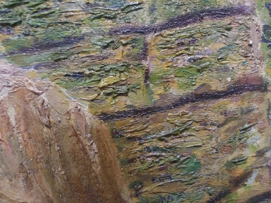 Surf and Stones, Maine created by Sudduth Goff as part of the TLC, Part II: Conservation and the Collection Exhibition.