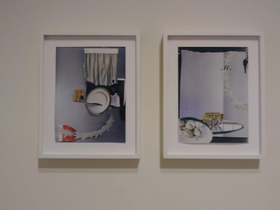 Untitled #17 an #18 (right to left) from the series Albeit created by Laura Letinsky as part of the Recent Works Exhibition.