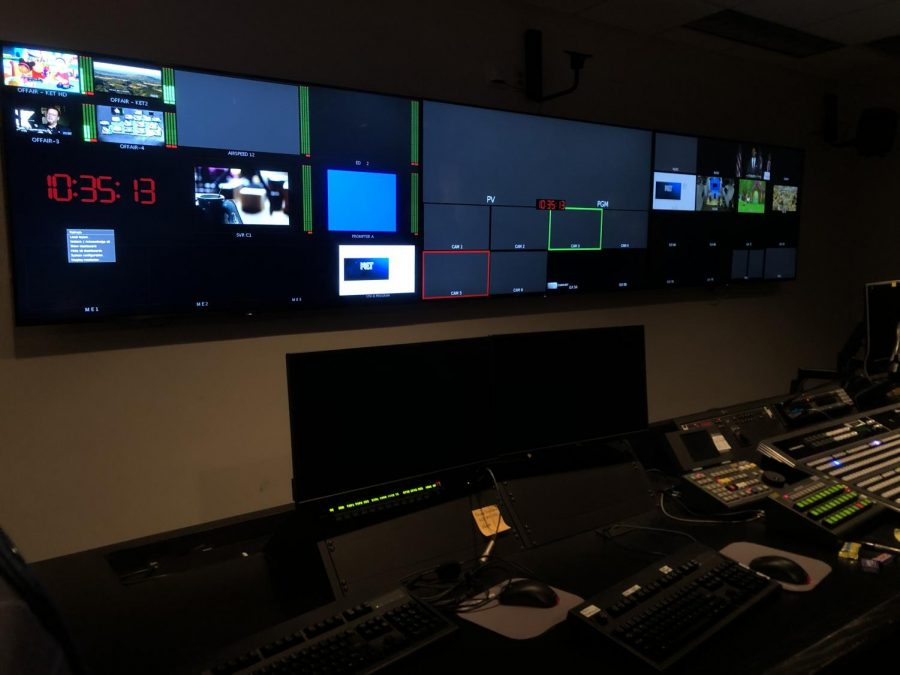 An up-close look at the channels control room.