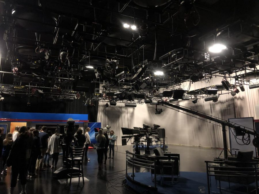 The overhead camera and light set up for Studio A.