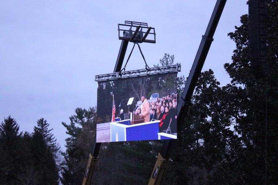 Grammy-nominated performer Jason Clayborn performs God Bless America.