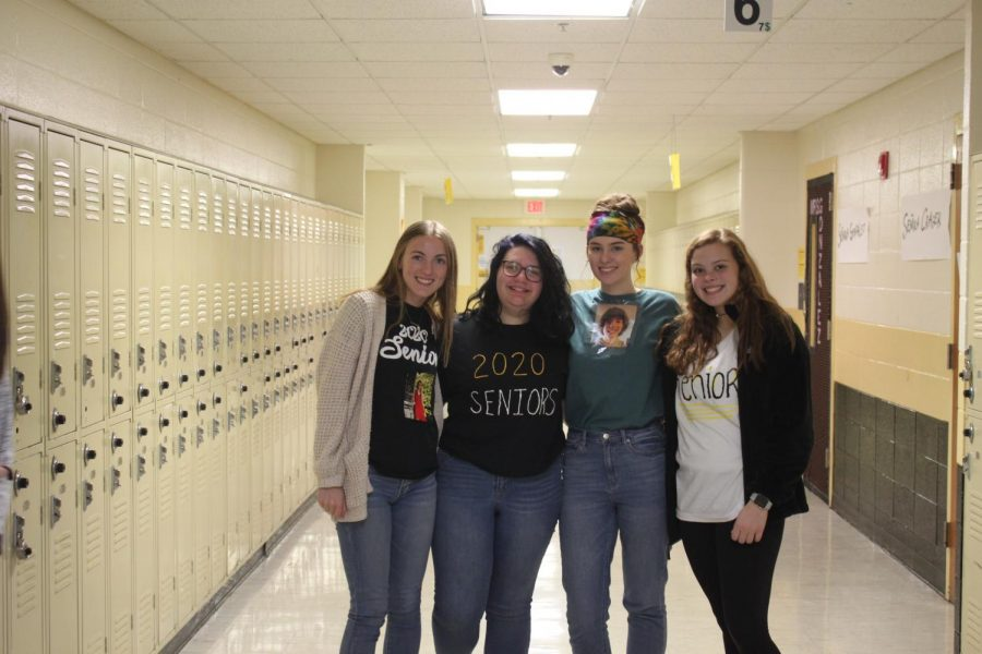 Sophomore and junior girls on Thursday supporting some of their favorite seniors just before they're gone for college.