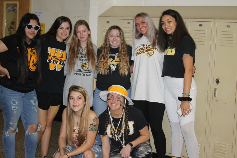 It's the final day of spirit week and these ladies went all out for extreme Woodford Spirit day!