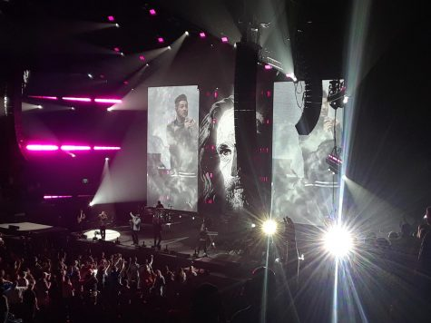 "Newsong, the founders of Winter Jam, performs their song ""Arise My Love,"" their most well known song."