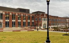 The view of Morehead's campus before beginning the tour.