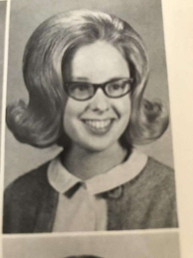Nancy Ayer Basham poses for her Senior picture in 1967.