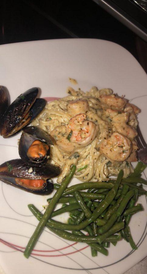 Shrimp+pasta+dish