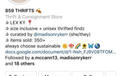 A screenshot of Madison Ryker's 859Thrifts Instagram page.
