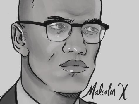 Horizontal Malcom X Portrait