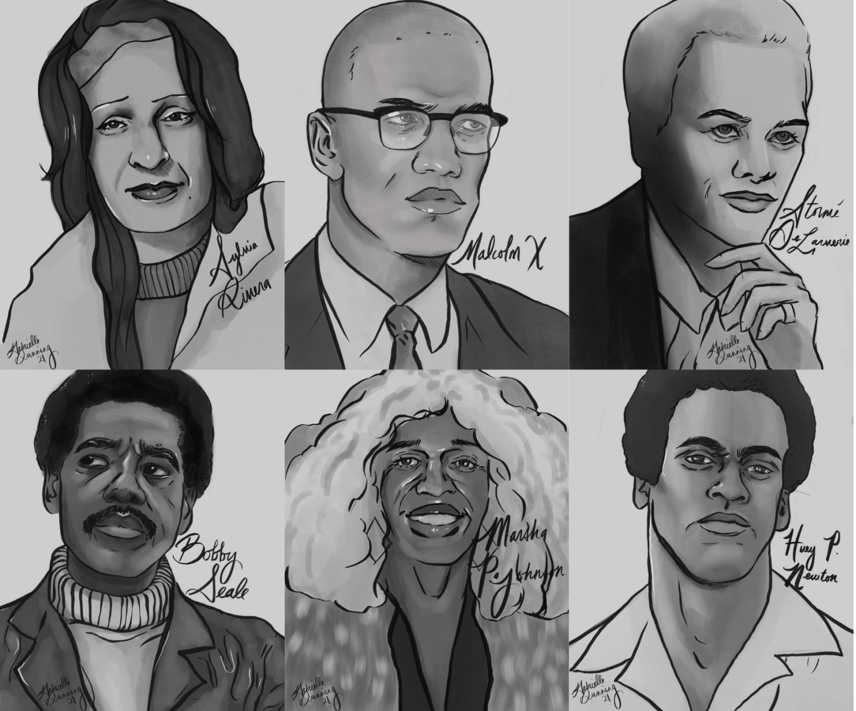 Black History Figures Portrait Collage
