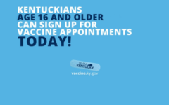 Announcement from Team Kentucky saying that anyone in the state 16 years of age or older can now get a COVID vaccine. Photo by vaccine.ky.gov