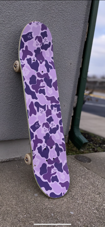 A look at the new clean grip tape before it is used for the first time located outside of EC3 Apparel.
