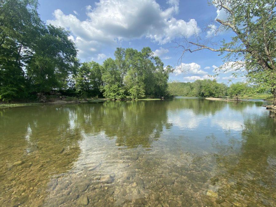 The+Elkhorn+Creek+in+Frankfort%2C+Kentucky.