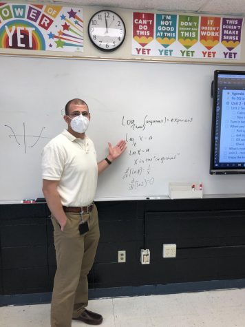 Mr. Sealand in action teaching logarithms.